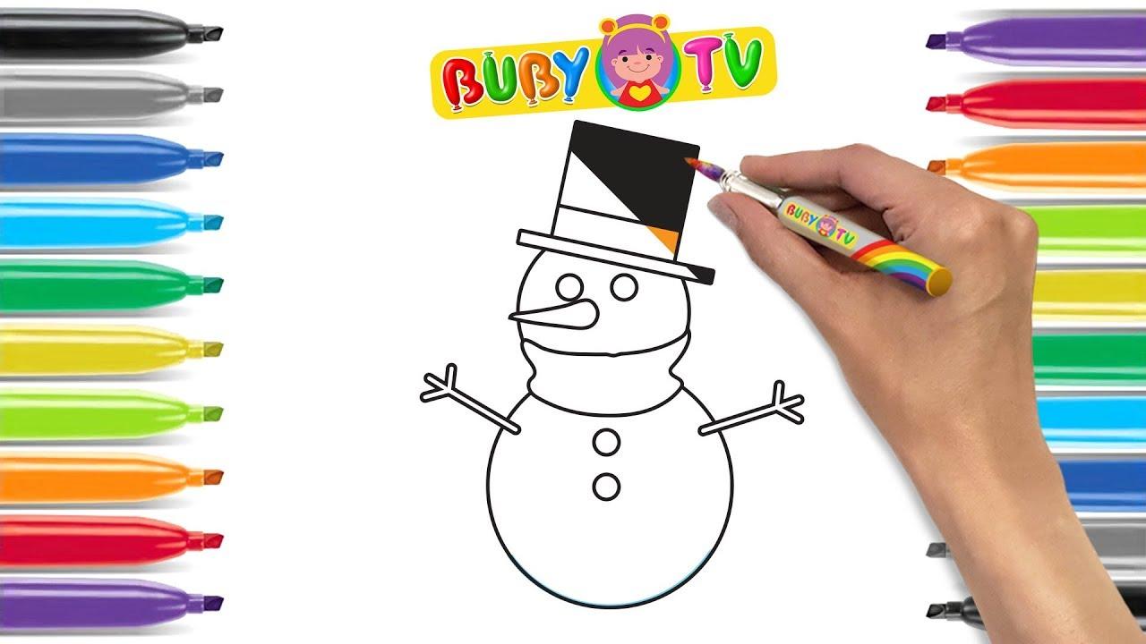 Impara A Disegnare Un Pupazzo Di Neve Lavoretti Di Natale