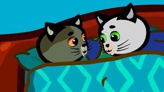 Считалочки - Караоке | Песенки для котят - Десять в кроватке | Три котенка