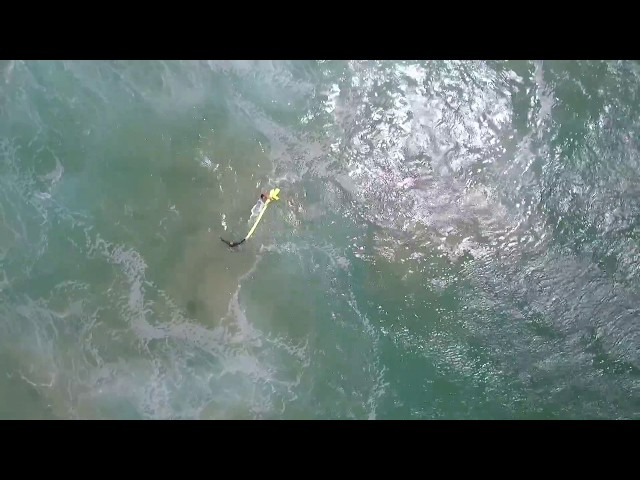 Así se realizó el primer rescate marítimo con un dron