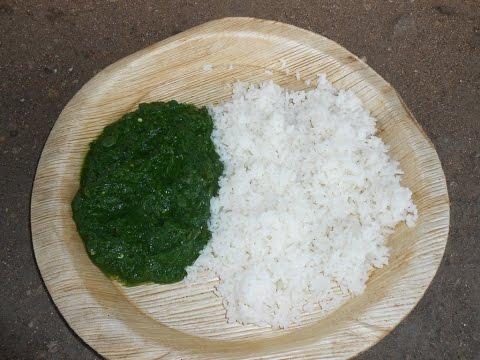 Cooking Farm Fresh Green Spinach with Rice in My Village  – Keerai Kulambhu – Natural Healthy Food