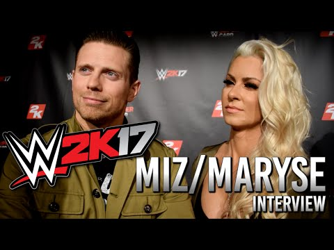 WWE 2K17 The Miz & Maryse Interview (Maryse in WWE2K17? Backstage Brawls & More)