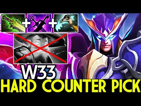 W33 [Skywrath Mage] Hard Counter Pick 100% Destroy Storm Mid 7.22 Dota 2