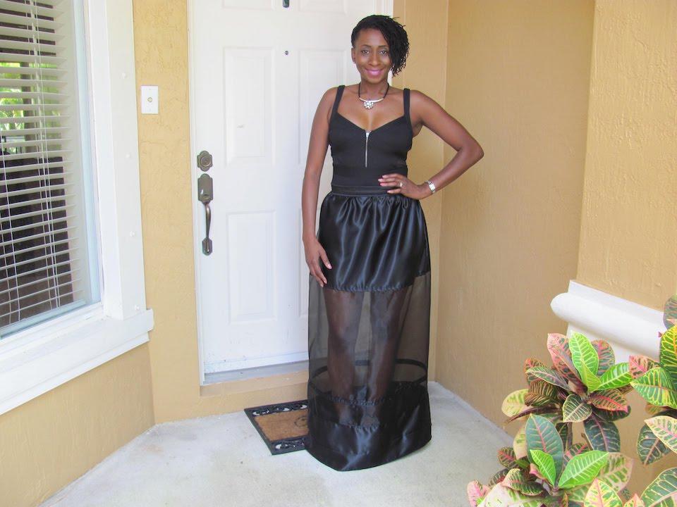 73821ec216 DIY Sheer Paneled Maxi Skirt - YouTube