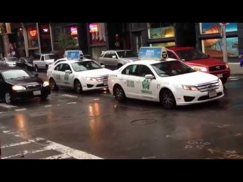 Boston Cab Rolling Rally Against Uber