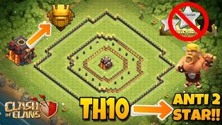 AMAZING TOW HALL 10 (TH10) 2017 ANTI 2 STAR BASE!! PUSH TO TITANS EASILY!! |Clash of Clans