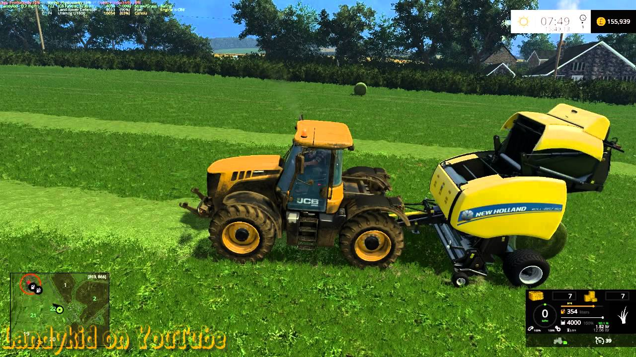 Farming Simulator 15 on Coldborough making silage bales