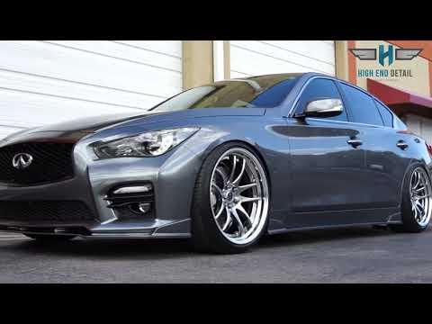 infiniti q50 wheels coated - YouTube