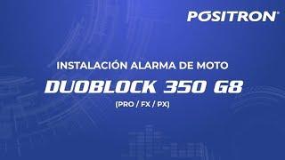 Instalacion alarma de moto Positron Duoblock línea 350 G8