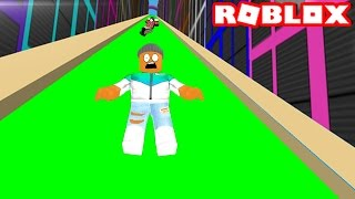 SLIDE DOWN THE SLIME SLIDE IN ROBLOX
