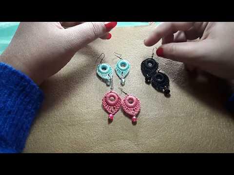 crochet earrings...