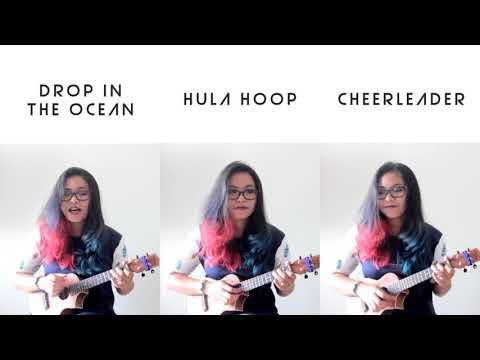OMI MASHUP (Drop In The Ocean, Hula Hoop, Cheerleader) - One Minute Ukulele Cover by masihkecil
