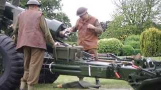 5.5 inch Howitzer practice.