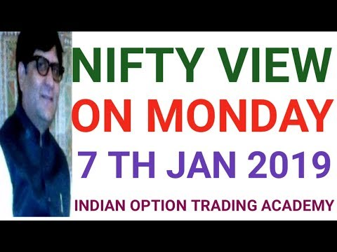 NIFTY VIEW ON MONDAY 7 TH JAN 2019