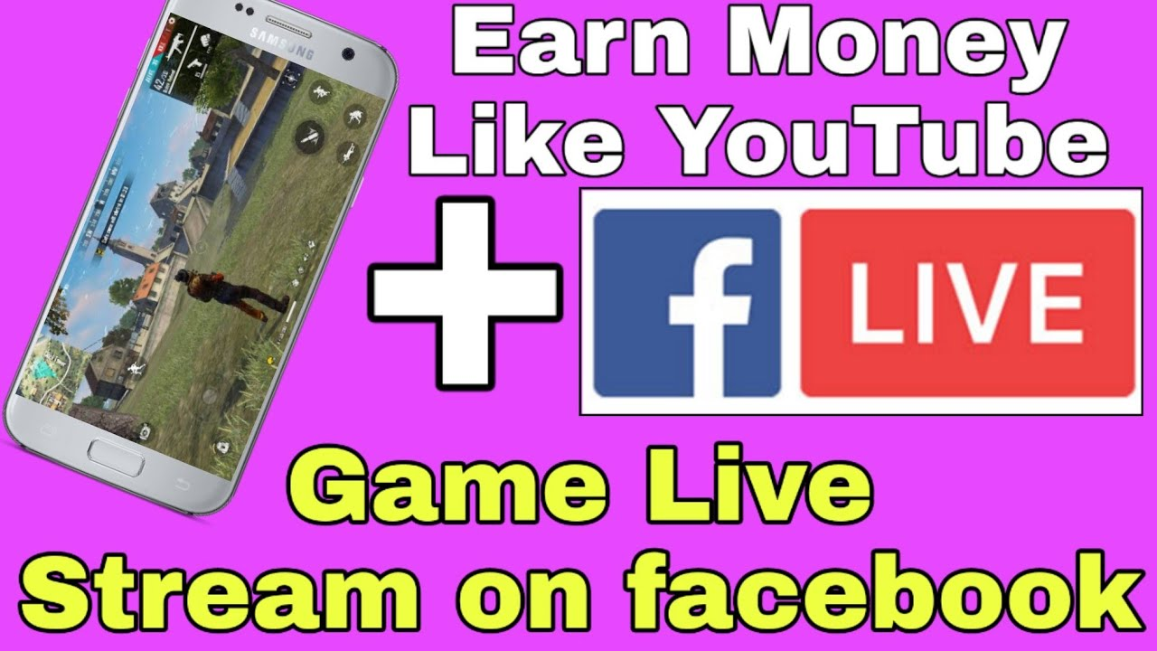Earn 100 Dollar per month from facebook | how to live stream mobile screen on facebook