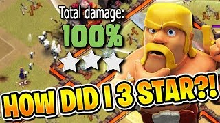 HOW DID I 3 STAR THIS BASE?! - 3 Star War Attacks - Clash of Clans