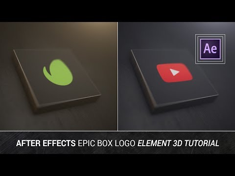 After Effects - Epic Box Logo Element 3D Tutorial (Videohive Style)