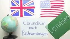Englisches Lernvideo zu Gerundien, die immer auf bestimmte Redewendungen folgen | Englisch