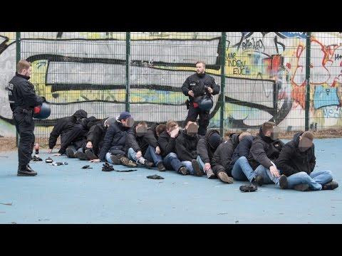 Berlin-Moabit: Verabredete Massenschlägerei zwischen Hertha- und Frankfurt-Fans