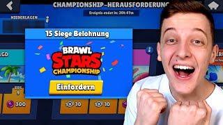 15 SIEGE GESCHAFFT?! 😍 Championship Herausforderung mit 2 PROS! | Brawl Stars deutsch