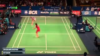 New  Ratchanok intanon vs Busanan Ongbumrungphan | R2 Indonesia Badminton 2015