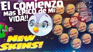 El COMIENZO mas EPICO de mi VIDA!! | Agar.io | New Skins Care Bears & Cousins | Rubinho vlc
