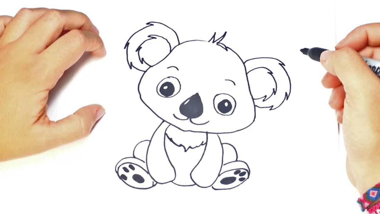 Como dibujar un Koala kawaii paso a paso fácil - YouTube
