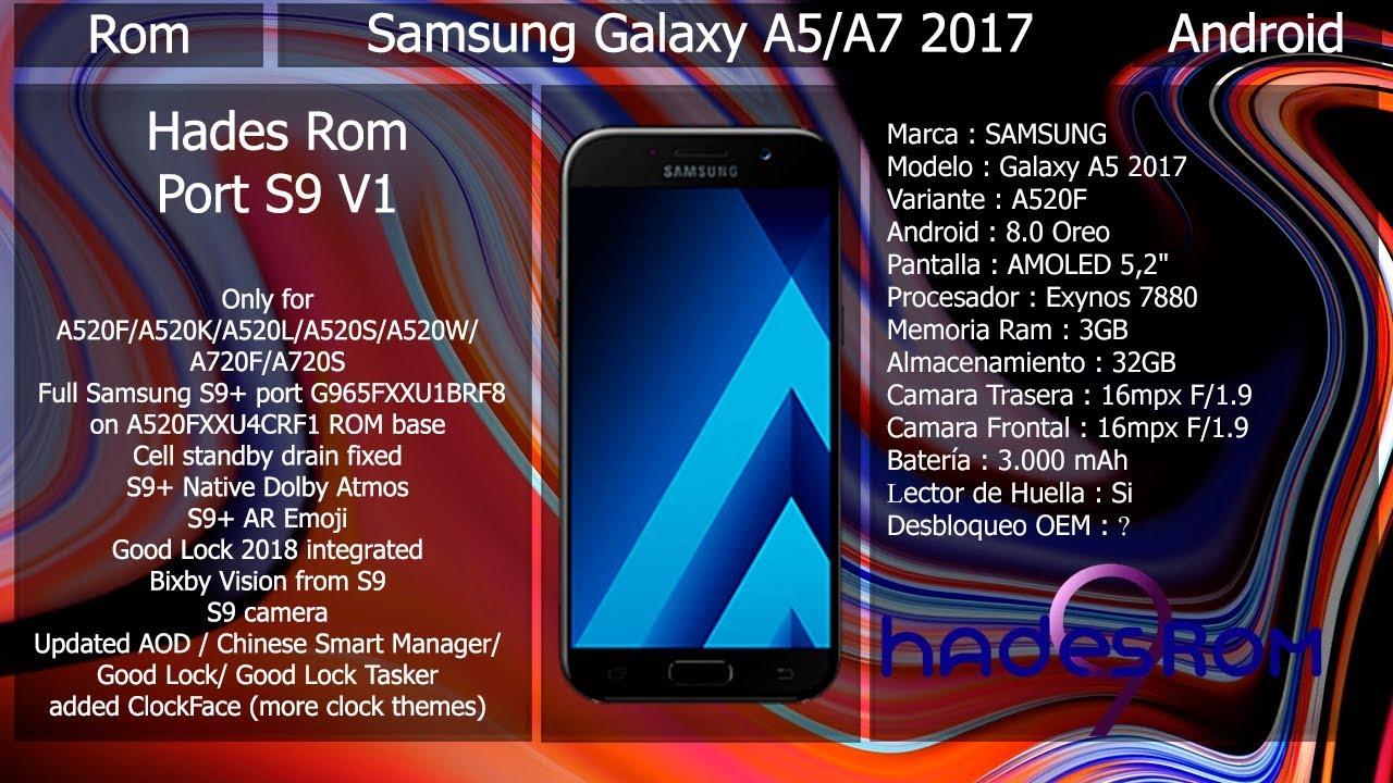 Rom Hades V1 Port S9+ - Samsung A5/A7 2017