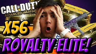 WORST LUCK EVER?! | ADVANCED SUPPLY DROP PACK OPENING! | 56 Royalty Elite Weapon Packs! COD AW