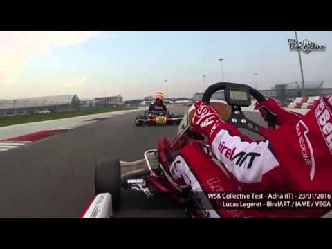 Onboard Lucas Legeret with OK engine in WSK Collective test