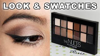 Maybelline The Nudes Palette | tutorial, swatches, review