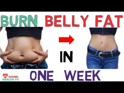 how to lose belly fat in one week  lose weight fast