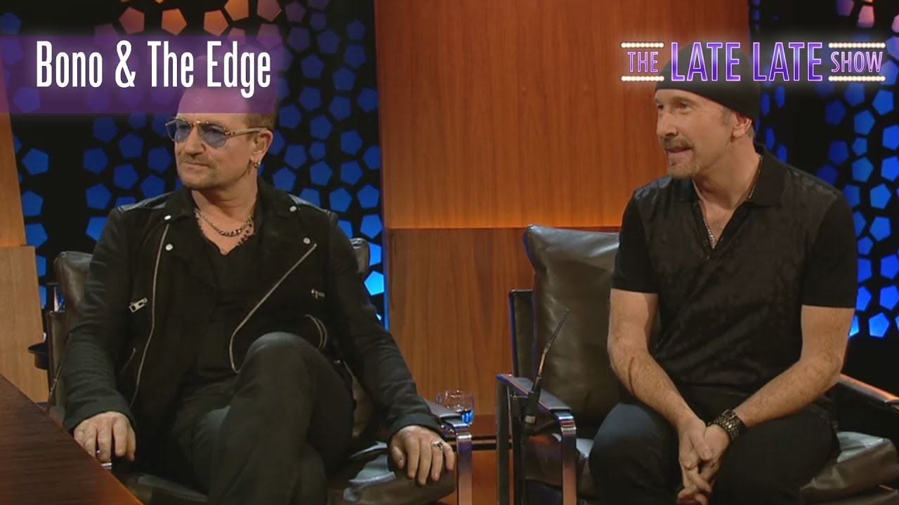 bono and the edge interview and performance the late. Black Bedroom Furniture Sets. Home Design Ideas