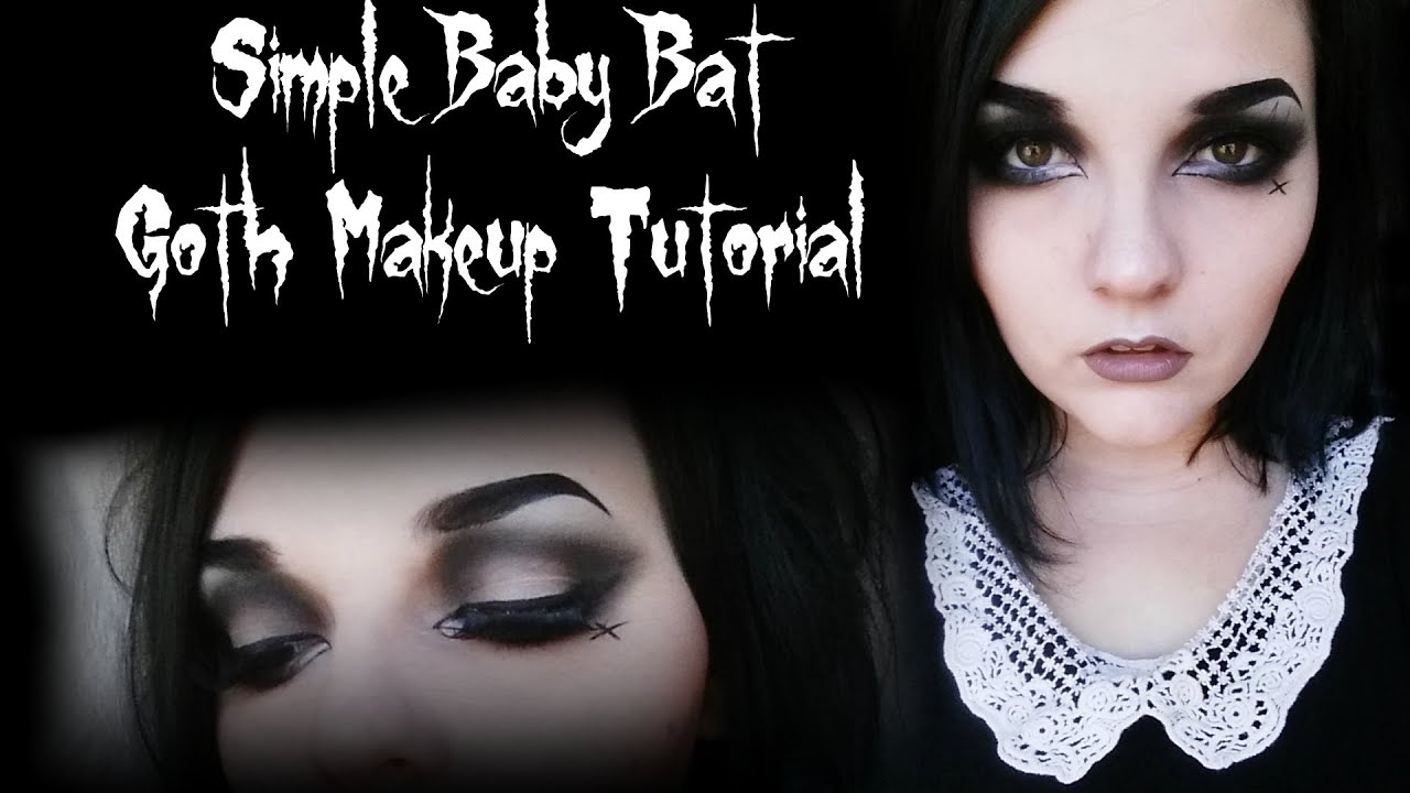 Easy Makeup For Baby Bats! | Simple Goth Eye Tutorial ...