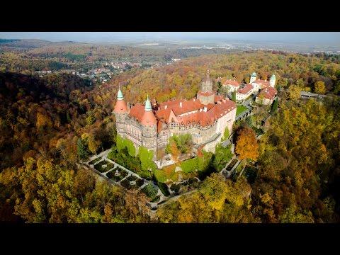 Największy zamek Dolnego Śląska - Książ z drona