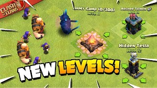 Update Sneak Peek 2 - New Troop/Defense Levels and More (Clash of Clans)