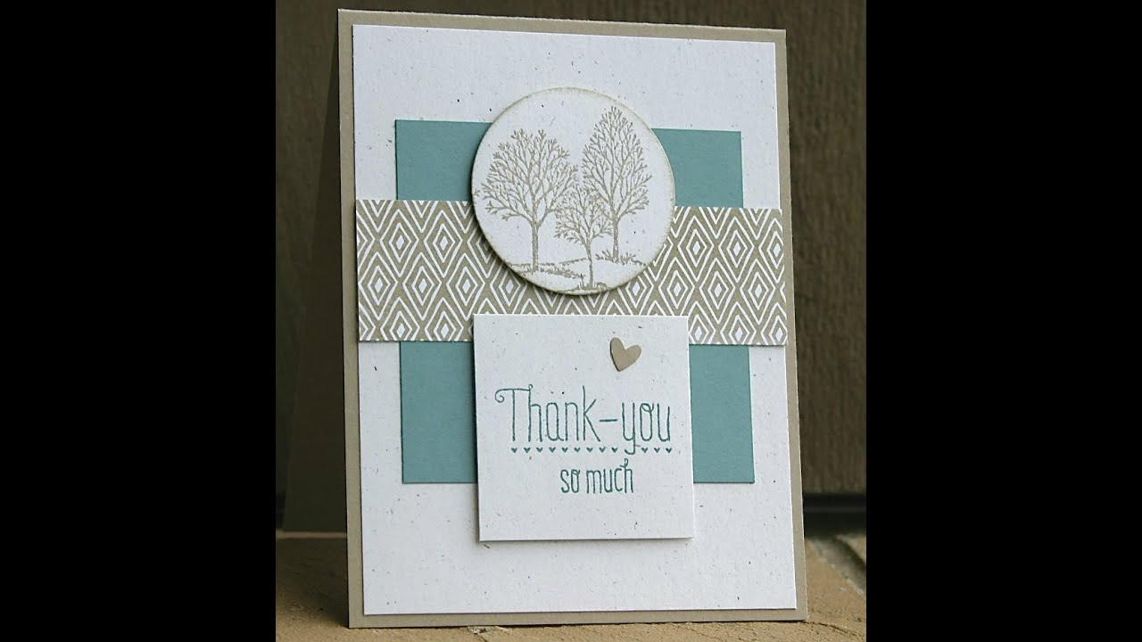 Stampin Up Thank You Card Using Lovely As A Tree YouTube