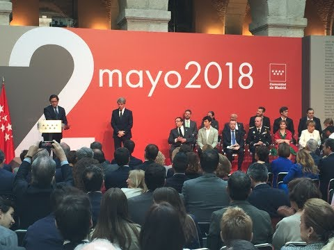Medallas del Dos de Mayo. Día de la Comunidad de Madrid 2018
