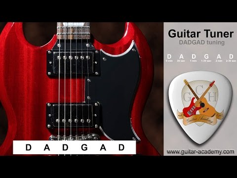DADGAD guitar tuner - tune your guitar to D A D G A D