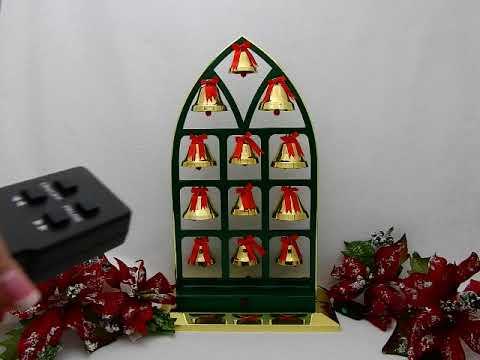 ye merrie minstrel caroling christmas bells model aus300