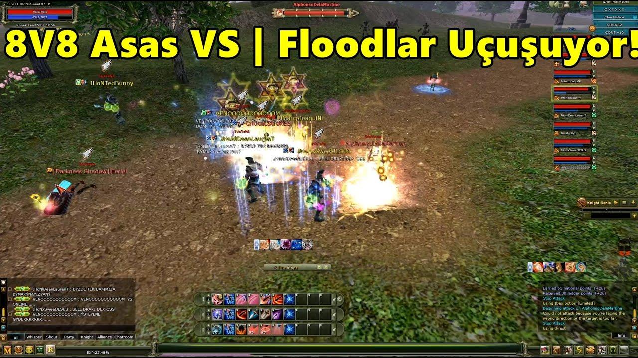 Sirius'ta İki Asas Party Karşı Karşıya | 8V8 Asas VS | Floodlar Uçuyor! | Knight Online