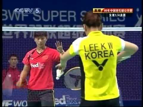 2009 China Open WDQF  Ma Jin/Wang Xiaoli vs Lee Kyung-won/Ha Jung-eun