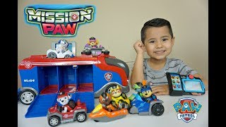 PAW PATROL toys Mission Cruiser, Mission Pup Pad UNBOXING Chase,Marshall,Zuma,Rubble,Skye,Rocky