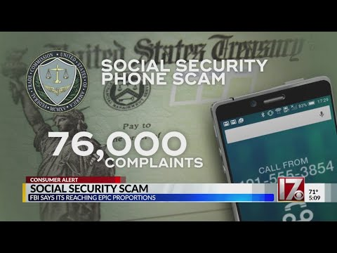 Government says social security phone scam an epidemic