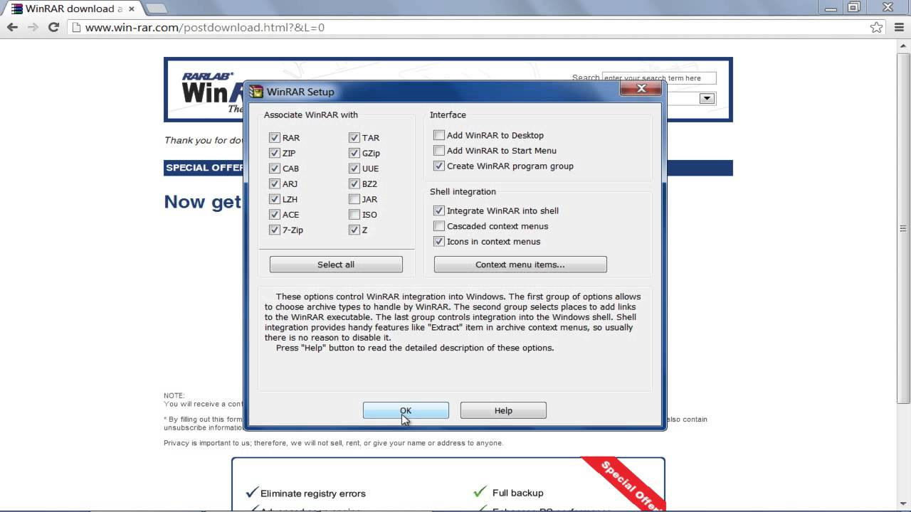rar file open software free download for windows xp