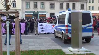 Linke Demo gegen (angebliche) Polizeigewalt, Halle-Saale, 2.12.2017