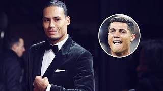 Van Dijk SLAMMED Cristiano Ronaldo during the Ballon d39Or ceremony  Oh My Goal