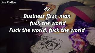 (TBT) Diamond - Fuck The World (Lyrics)