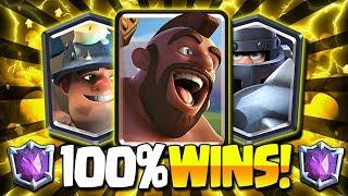 7000+ ULTIMATE CHAMPION MEGA KNIGHT & HOG & MINER DECK!! 100% WINS! - Clash Royale