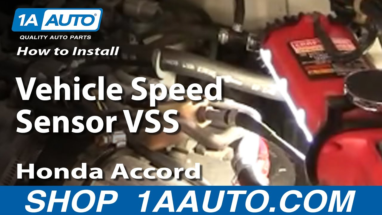 how to replace install vehicle speed sensor vss accord civic odyssey cl tl 92 01 1aauto com [ 1280 x 720 Pixel ]