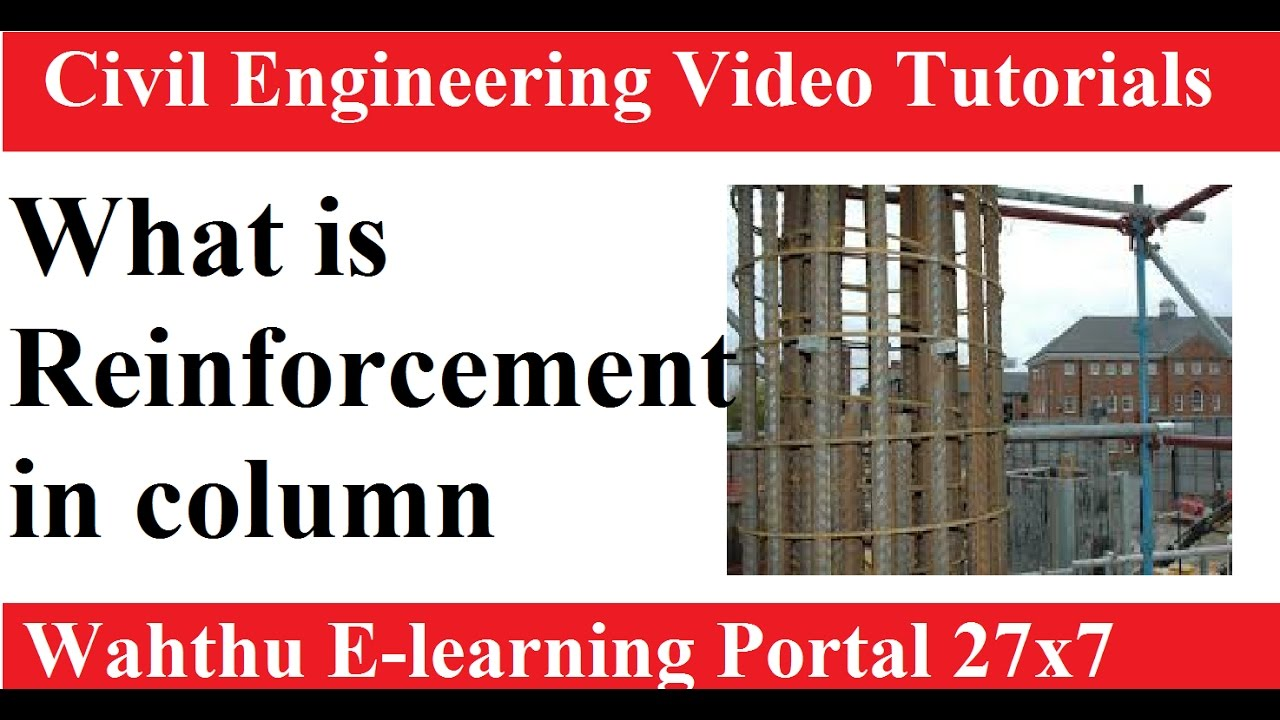 What is Reinforcement in column || RCC Design And Drawing By munesh ...